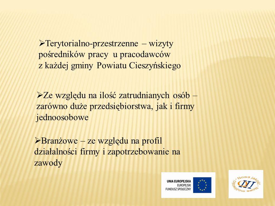Terytorialno-przestrzenne – wizyty pośredników pracy u pracodawców z każdej gminy Powiatu Cieszyńskiego