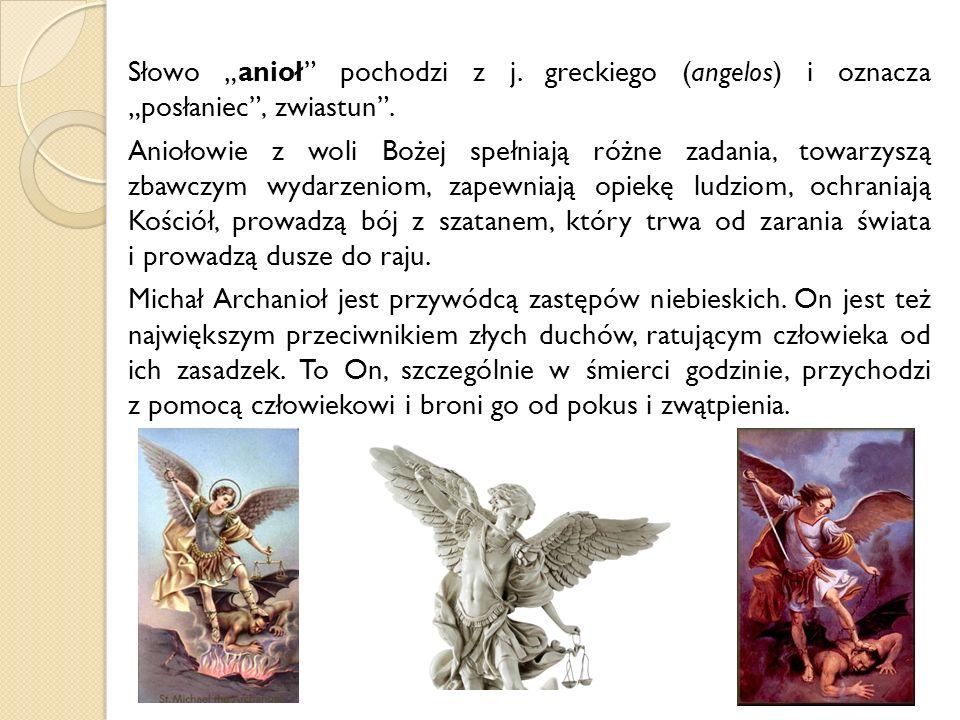 """Słowo """"anioł pochodzi z j"""