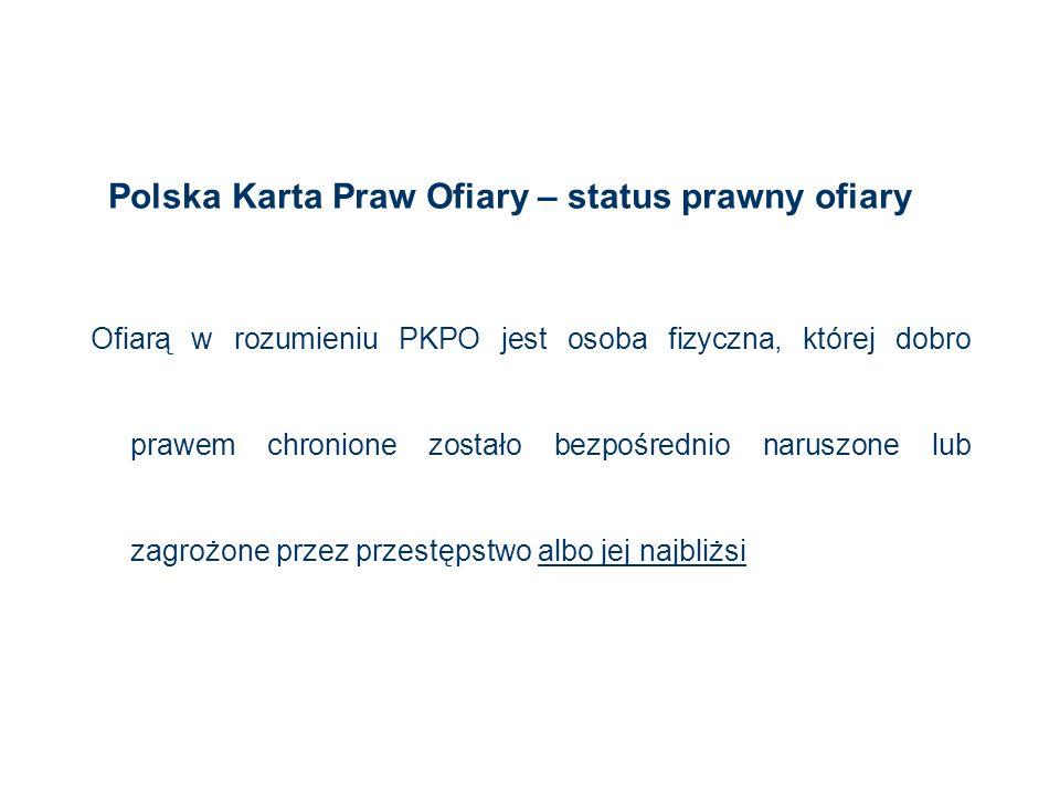 Polska Karta Praw Ofiary – status prawny ofiary