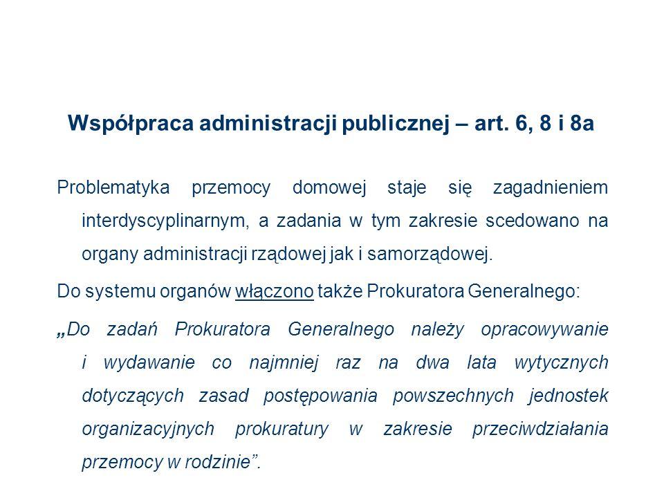 Współpraca administracji publicznej – art. 6, 8 i 8a