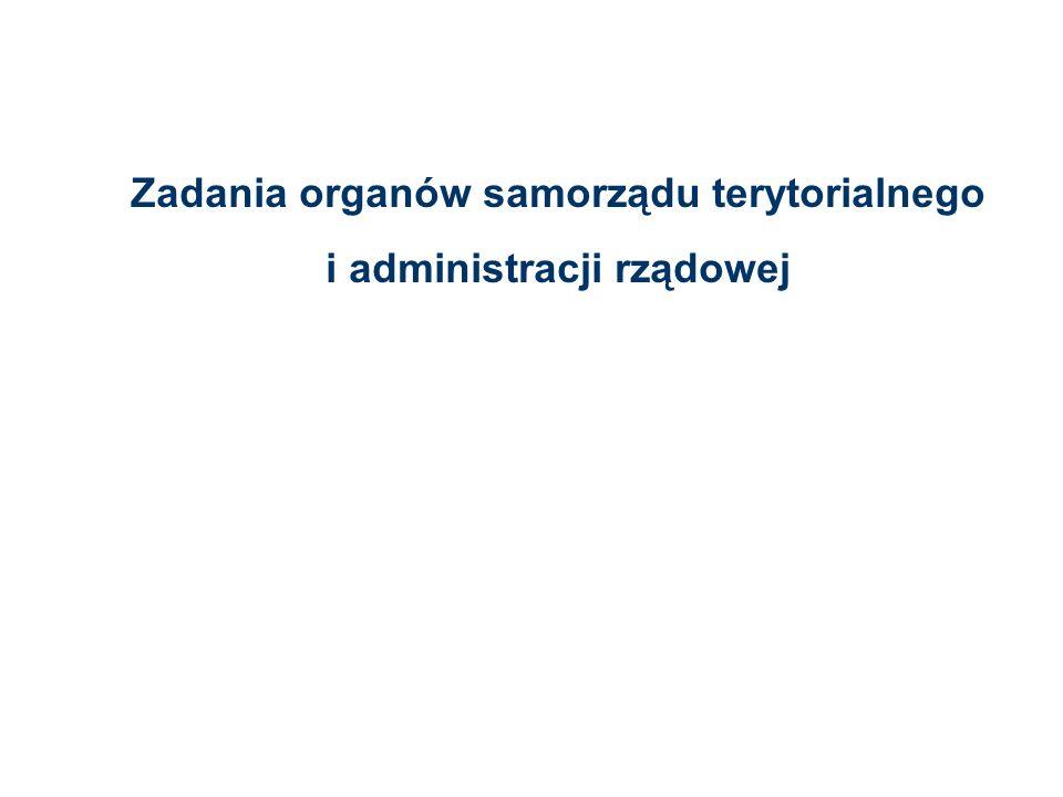Zadania organów samorządu terytorialnego i administracji rządowej