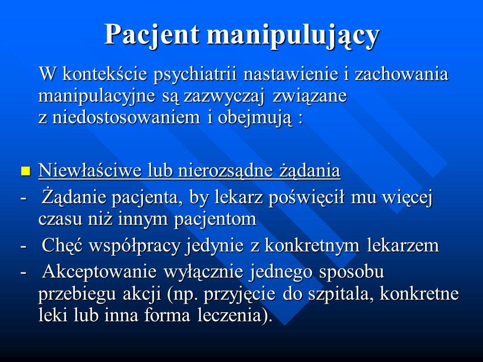 Pacjent manipulujący
