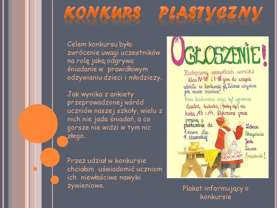 Plakat informujący o konkursie