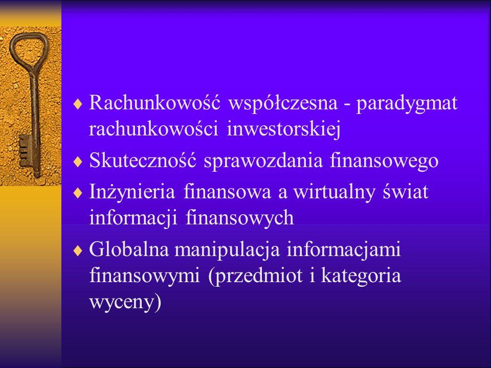 Rachunkowość współczesna - paradygmat rachunkowości inwestorskiej