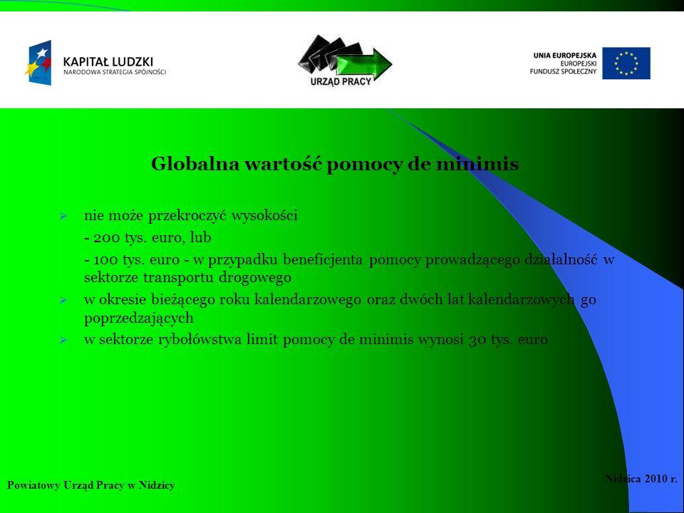 Globalna wartość pomocy de minimis