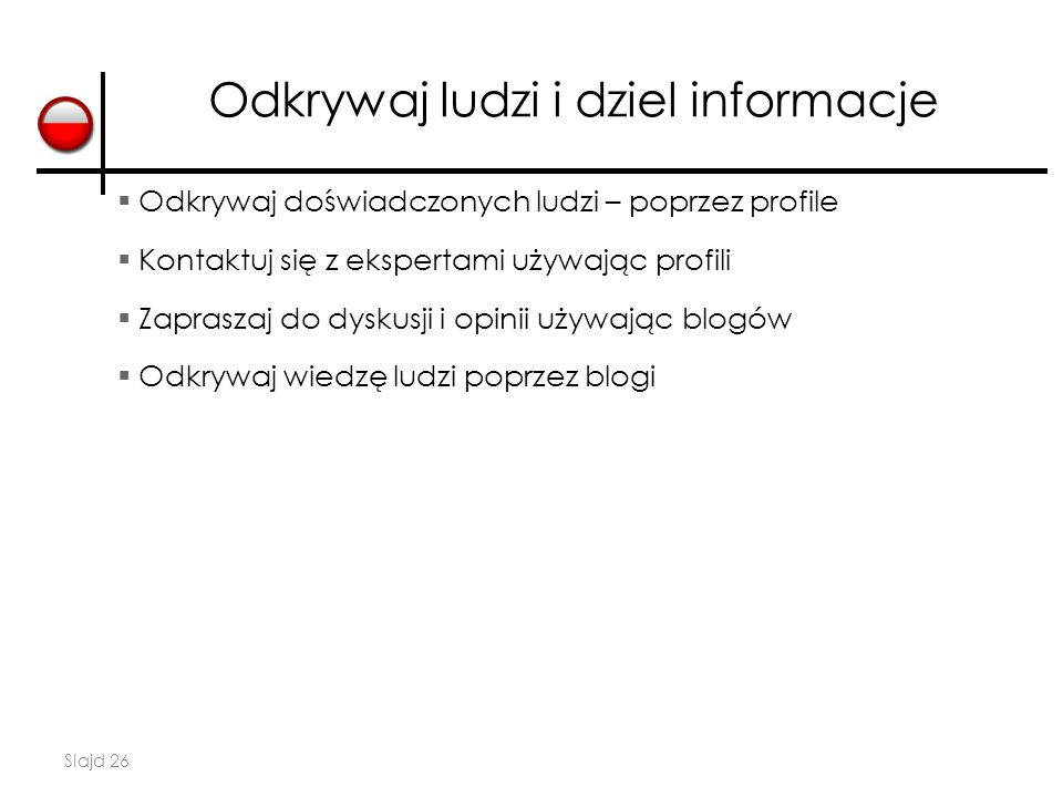 Odkrywaj ludzi i dziel informacje