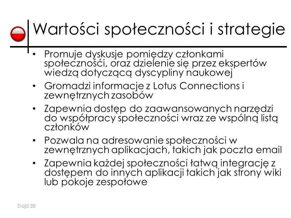 Wartości społeczności i strategie