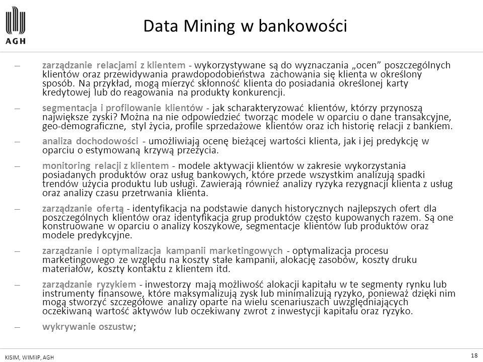 Data Mining w bankowości