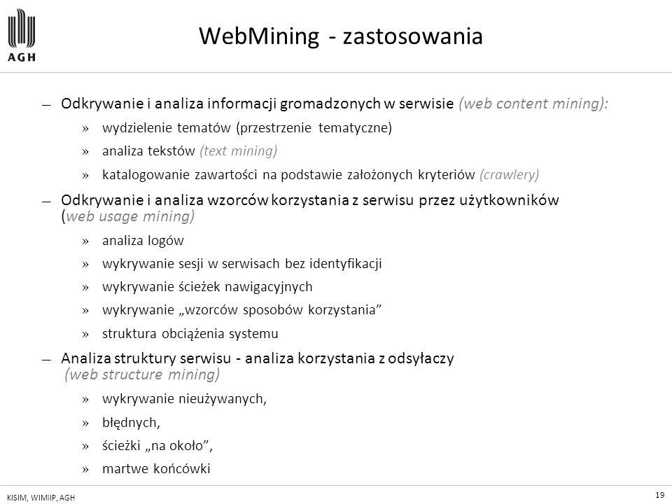 WebMining - zastosowania