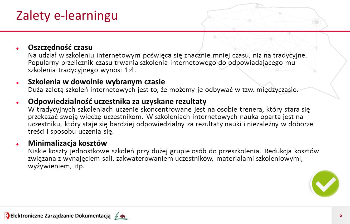 Zalety e-learningu