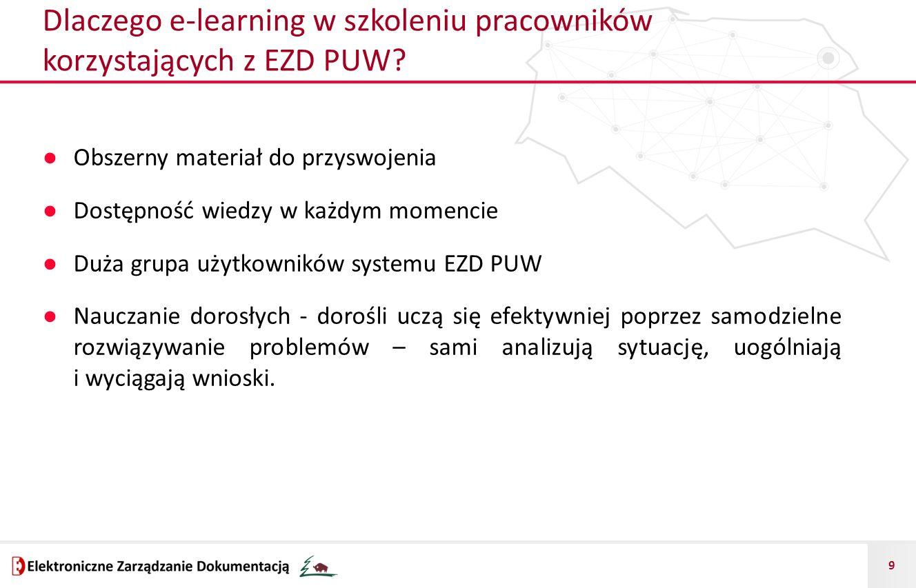 Dlaczego e-learning w szkoleniu pracowników korzystających z EZD PUW