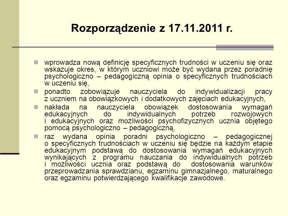 Rozporządzenie z 17.11.2011 r.