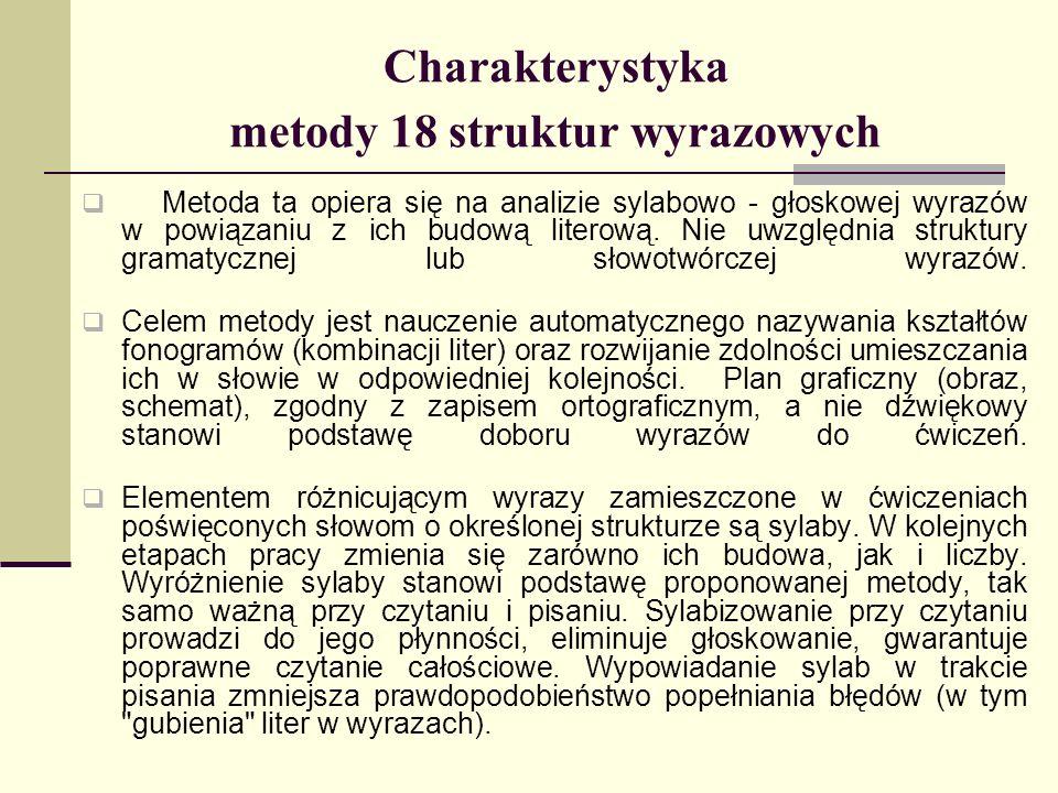 Charakterystyka metody 18 struktur wyrazowych