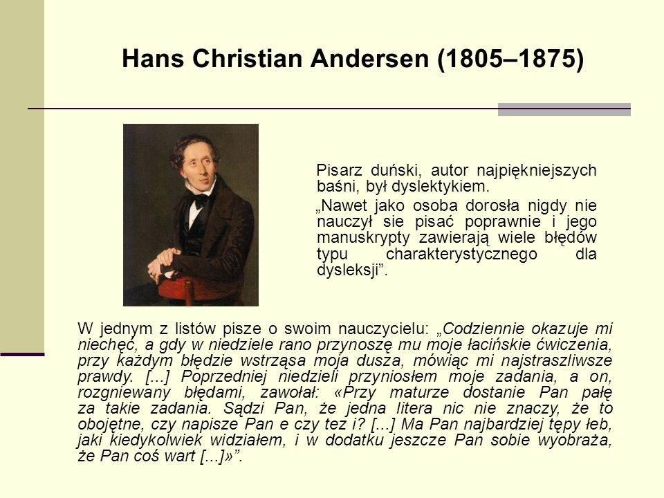 Hans Christian Andersen (1805–1875)