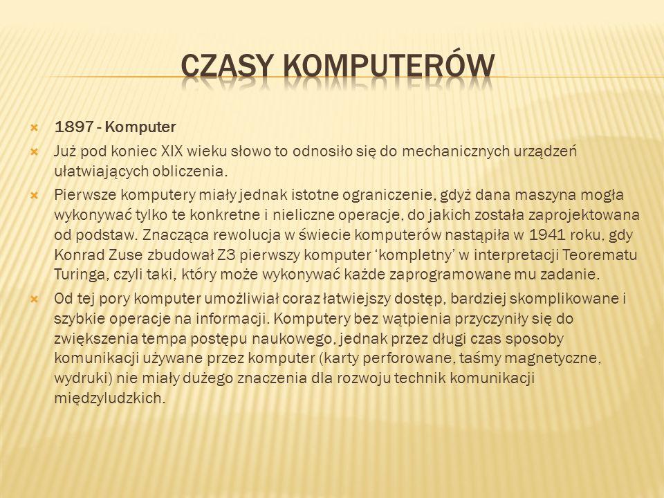 czasy komputerów 1897 - Komputer
