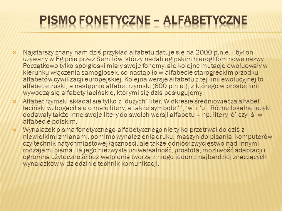 Pismo fonetyczne – alfabetyczne