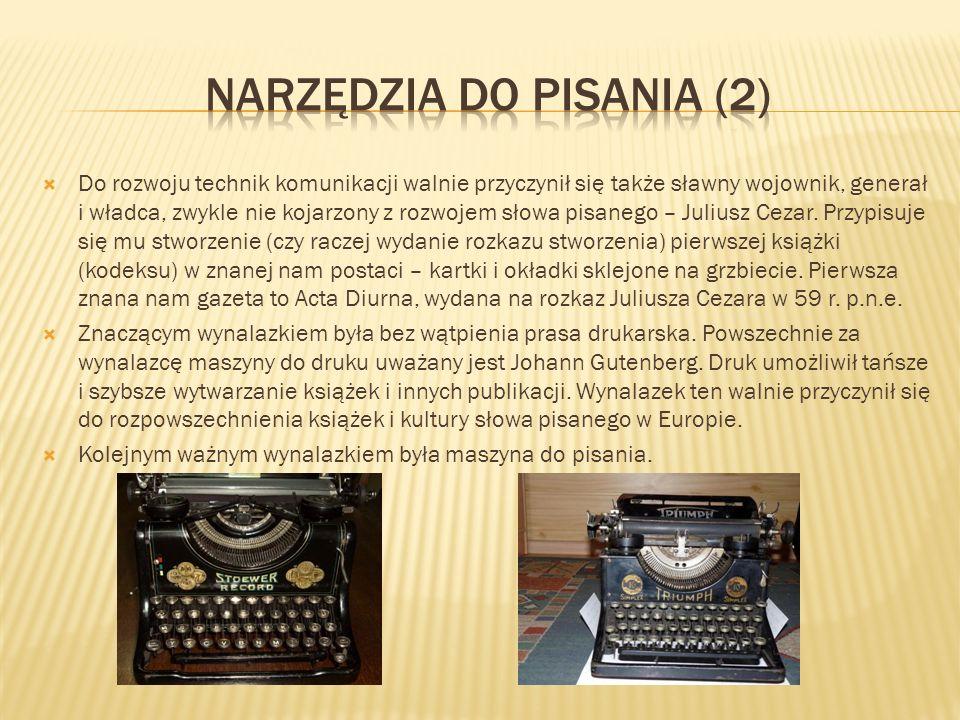 Narzędzia do pisania (2)