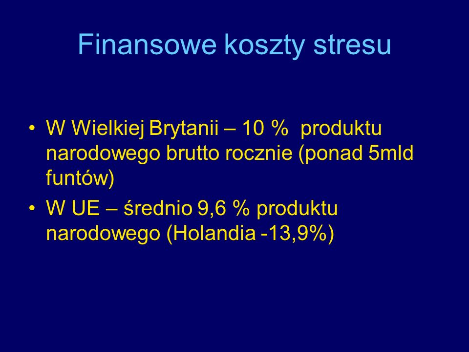 Finansowe koszty stresu