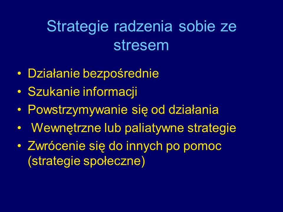 Strategie radzenia sobie ze stresem