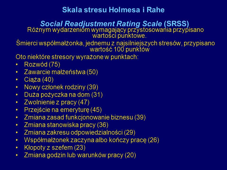 Skala stresu Holmesa i Rahe Social Readjustment Rating Scale (SRSS)