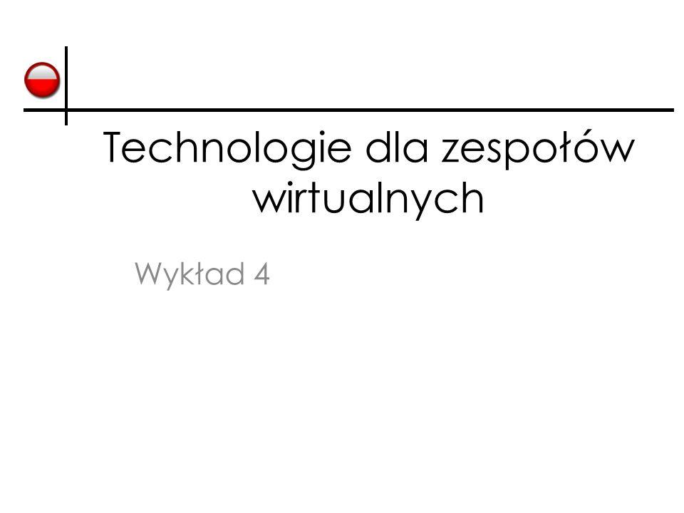 Technologie dla zespołów wirtualnych