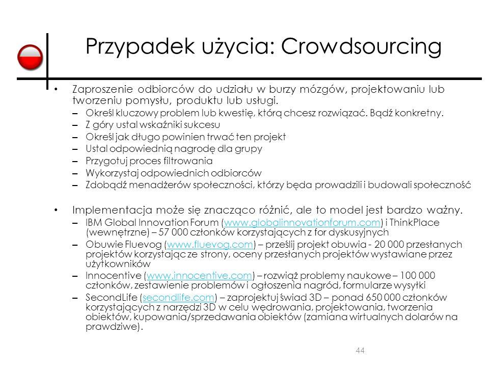 Przypadek użycia: Crowdsourcing