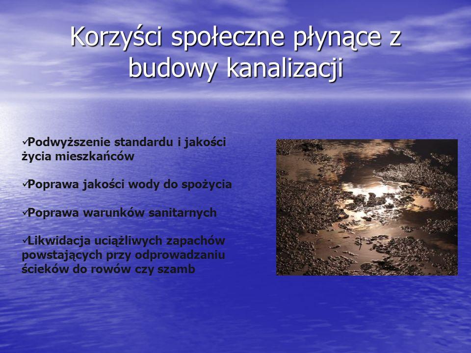 Korzyści społeczne płynące z budowy kanalizacji