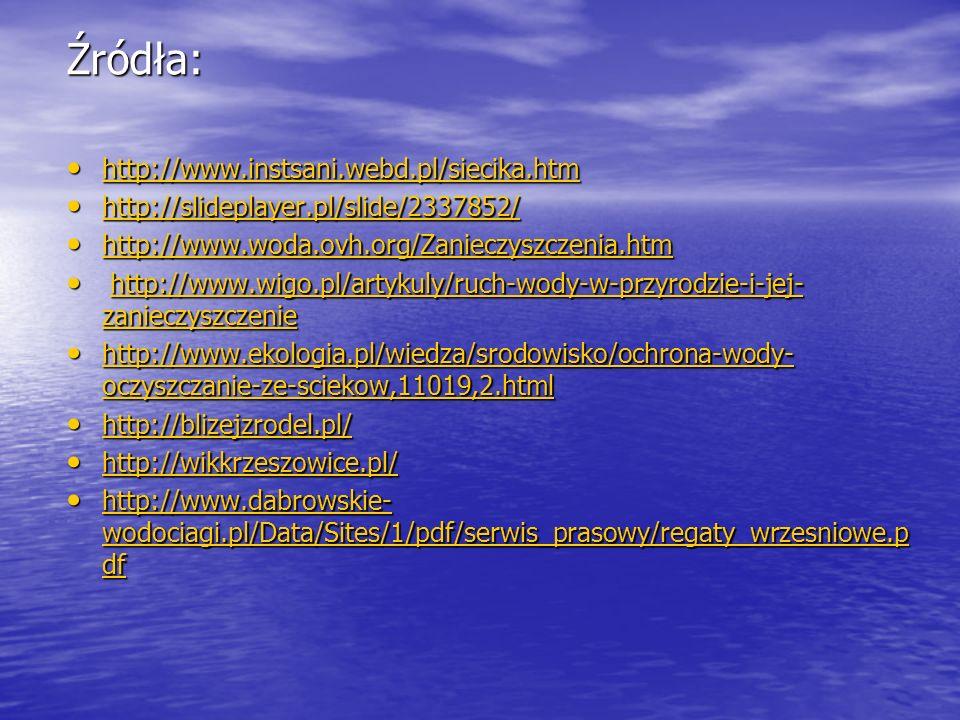 Źródła: http://www.instsani.webd.pl/siecika.htm