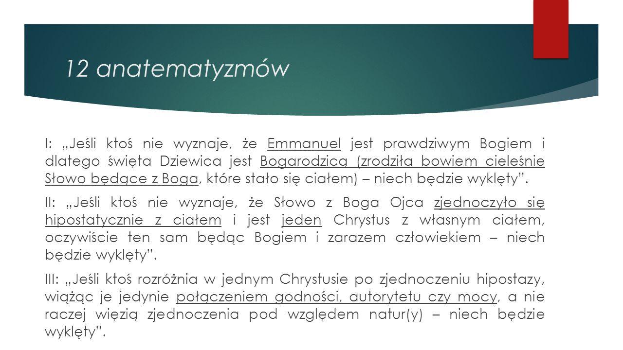 12 anatematyzmów