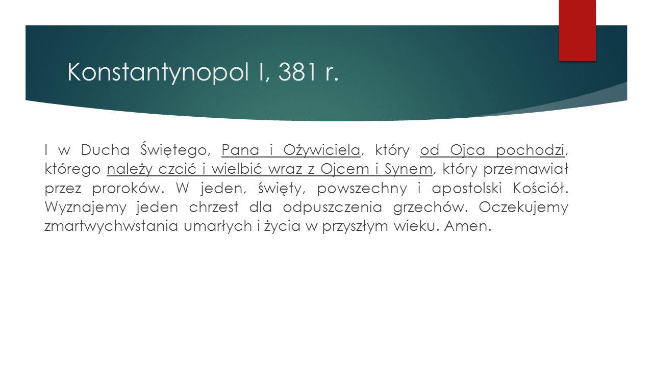 Konstantynopol I, 381 r.