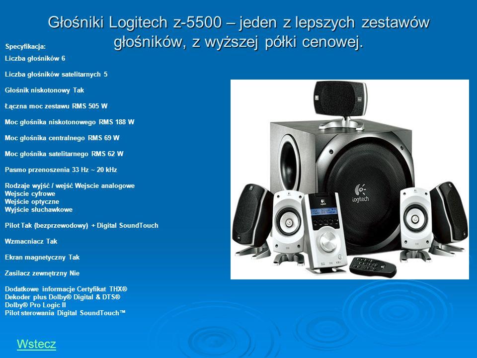 Głośniki Logitech z-5500 – jeden z lepszych zestawów głośników, z wyższej półki cenowej.
