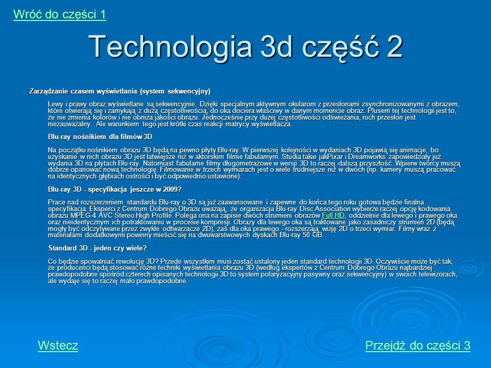 Technologia 3d część 2 Wróć do części 1 Wstecz Przejdź do części 3