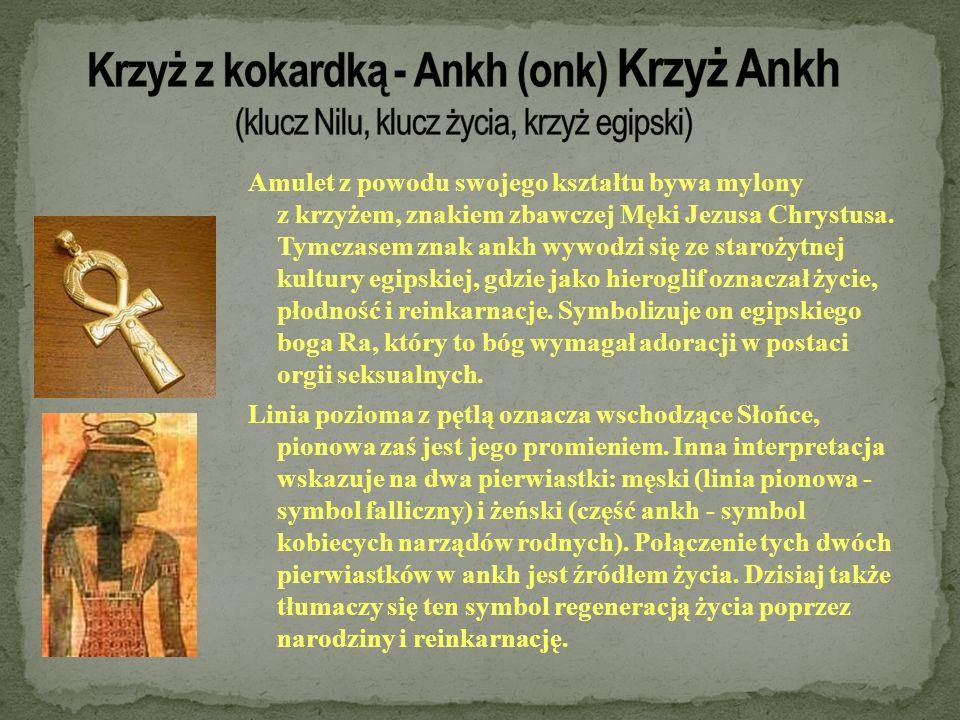Krzyż z kokardką - Ankh (onk) Krzyż Ankh (klucz Nilu, klucz życia, krzyż egipski)