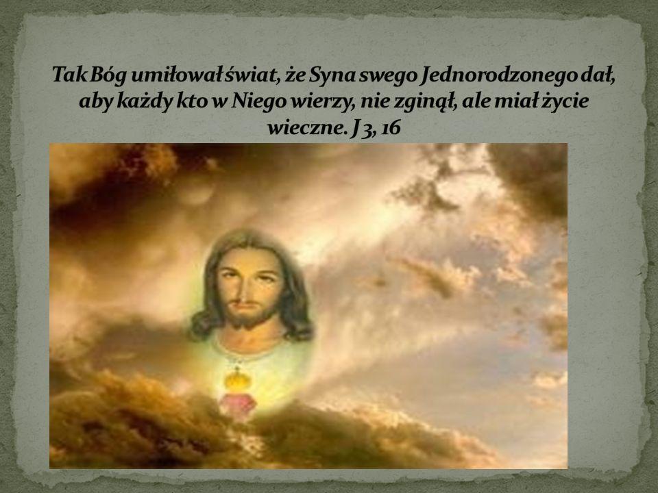Tak Bóg umiłował świat, że Syna swego Jednorodzonego dał, aby każdy kto w Niego wierzy, nie zginął, ale miał życie wieczne.