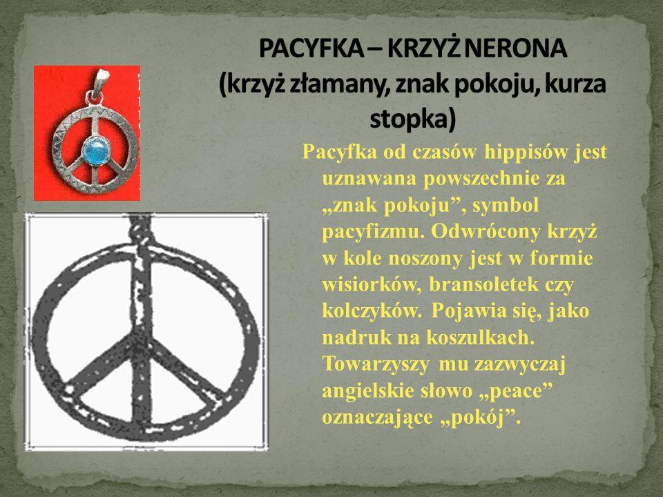 PACYFKA – KRZYŻ NERONA (krzyż złamany, znak pokoju, kurza stopka)