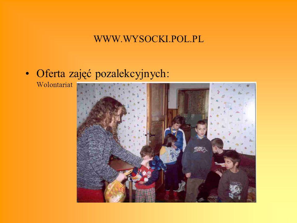 Oferta zajęć pozalekcyjnych: Wolontariat