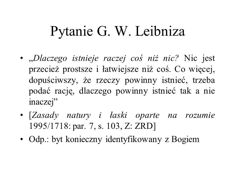 Pytanie G. W. Leibniza