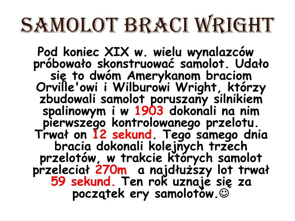 SAMOLOT BRACI WRIGHT