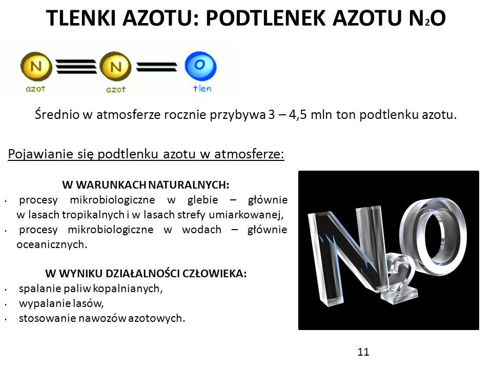 TLENKI AZOTU: PODTLENEK AZOTU N2O