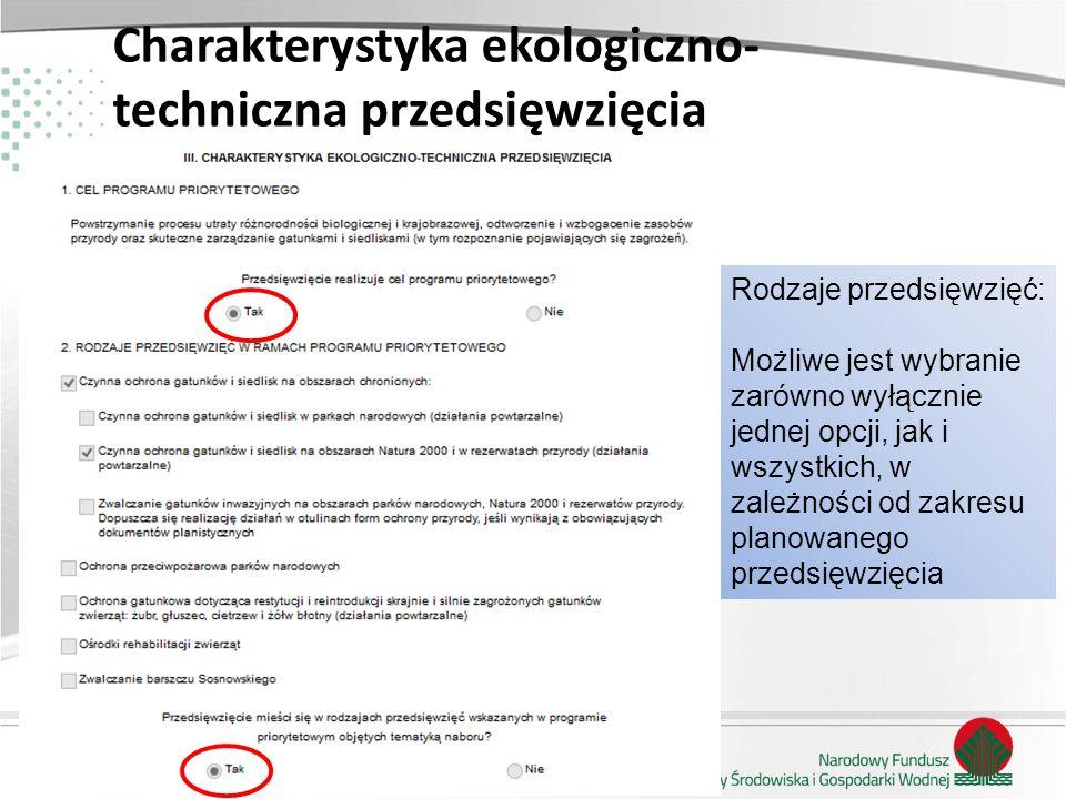 Charakterystyka ekologiczno- techniczna przedsięwzięcia