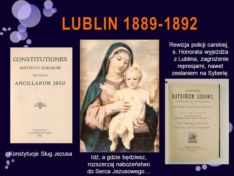 LUBLIN 1889-1892 Rewizja policji carskiej, s. Honorata wyjeżdża