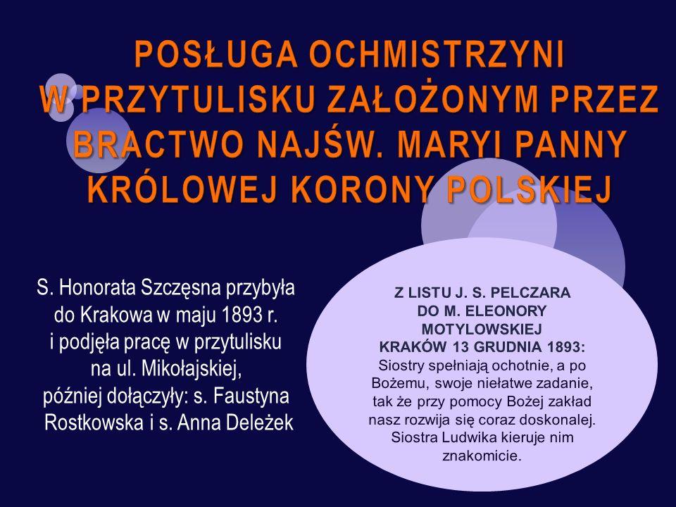 Z LISTU J. S. PELCZARA DO M. ELEONORY MOTYLOWSKIEJ