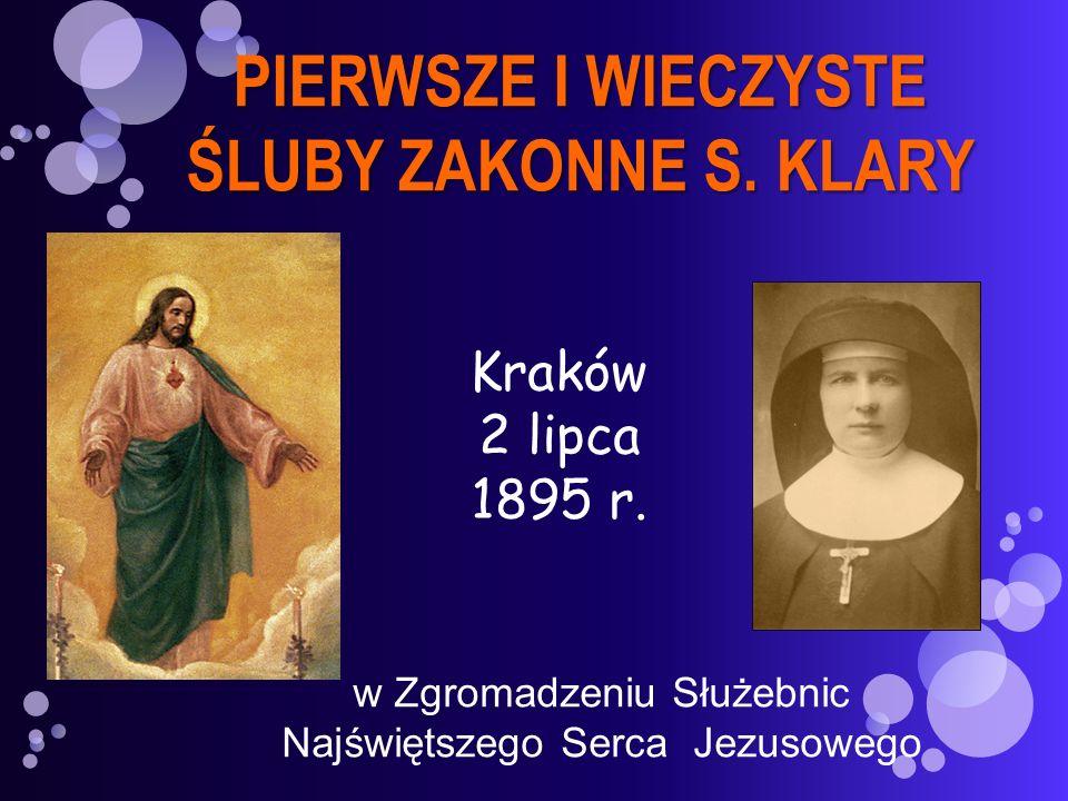 PIERWSZE I WIECZYSTE ŚLUBY ZAKONNE S. KLARY