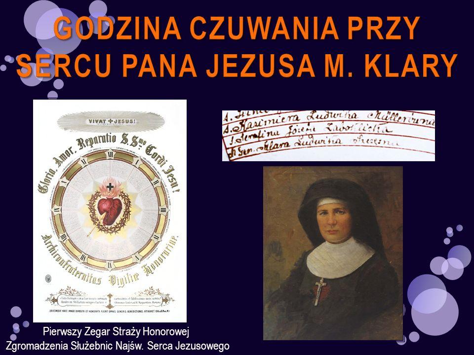 GODZINA CZUWANIA PRZY SERCU PANA JEZUSA M. KLARY
