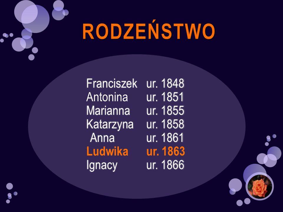 RODZEŃSTWO Antonina ur. 1851 Marianna ur. 1855 Katarzyna ur. 1858