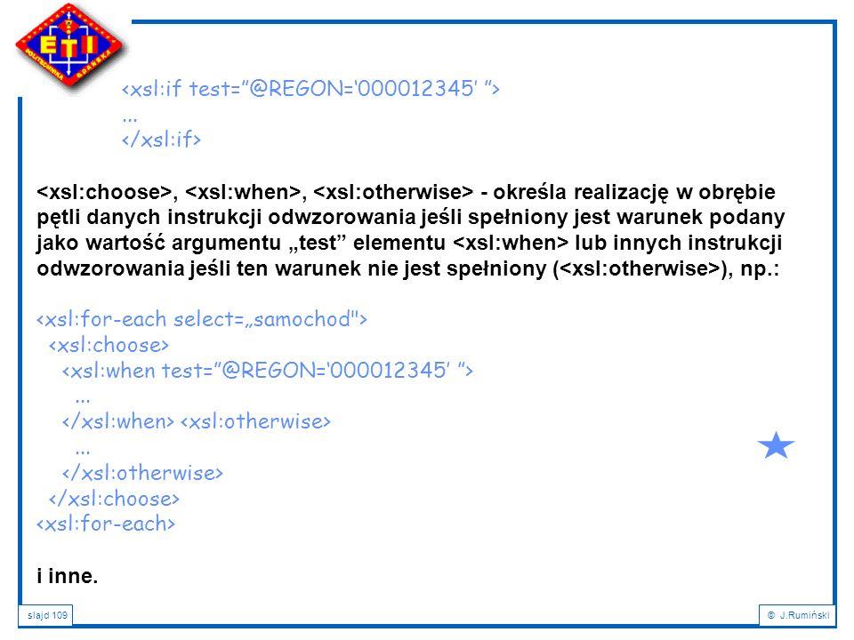 <xsl:if test= @REGON='000012345' >