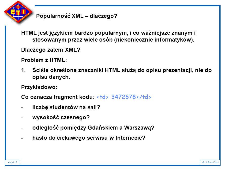 Popularność XML – dlaczego