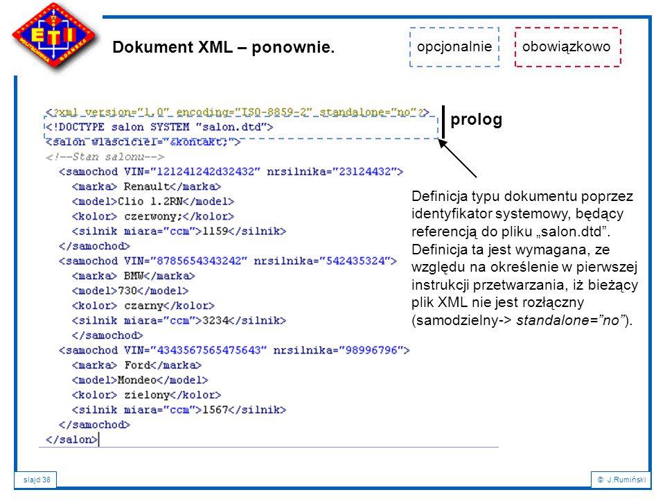 Dokument XML – ponownie.