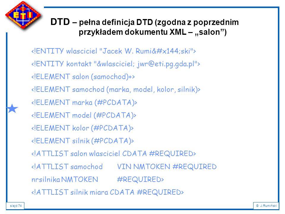 DTD – pełna definicja DTD (zgodna z poprzednim