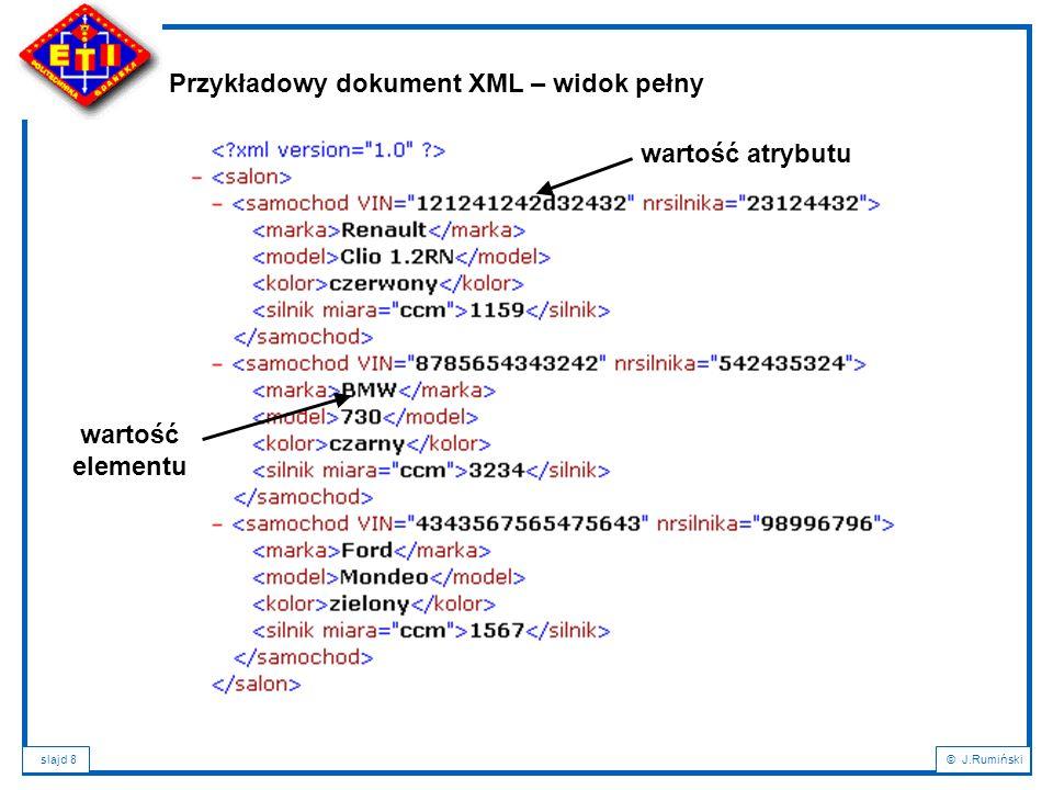 Przykładowy dokument XML – widok pełny